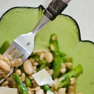 Farro with Asparagus, Cannellini Beans