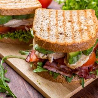 Loaded Avocado, Chicken and Pastrami Sandwich