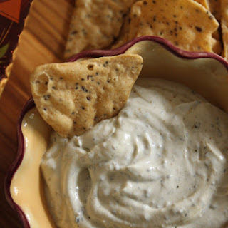 Pesto and Goat Cheese Greek Yogurt Dip