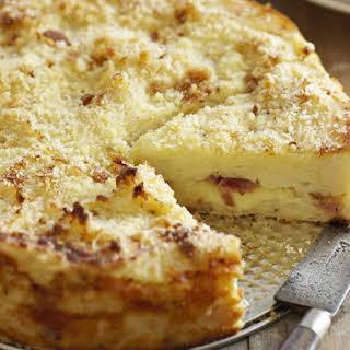 Mozzarella and Prosciutto Potato Cake.