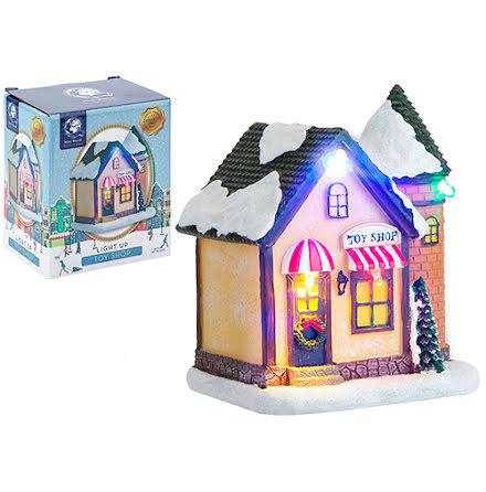 Minihus med belysning - Toy shop - Mini world
