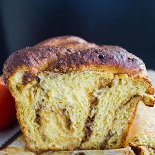 Persimmon Hazelnut Raisin Swirl Loaf