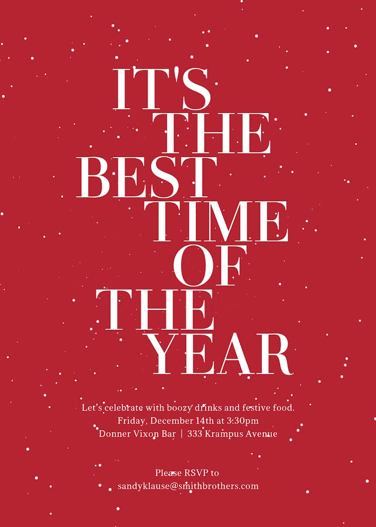 The Best Time of the Year - Christmas Card Template