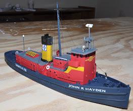 "Photo: 142' Santa Fe Tug ""John R Hayden"" in service from 1948 to 1984. Pre-production model."