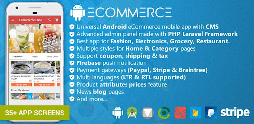 Restaurant Ecommerce Mobile App with CMS on Windows PC Download Free