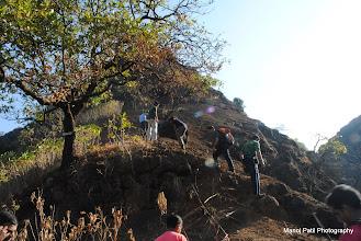 Photo: Steep climb of Chandragad.....