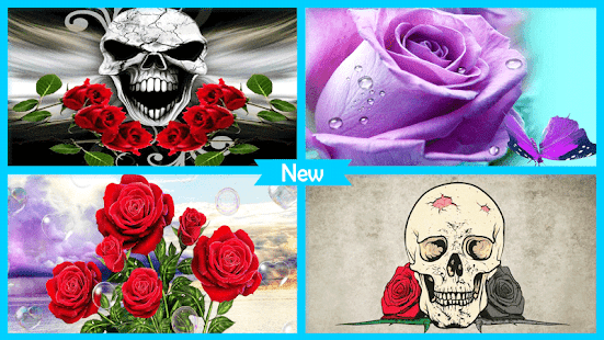 Rose Skull Live Wallpaper - náhled