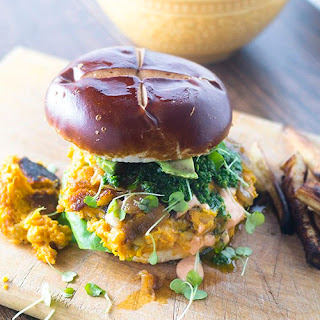 Vegan Spicy Chickpea Burger.