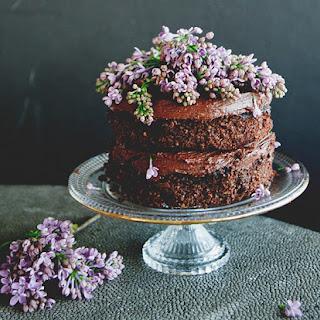 Chocolate Cake Layer Cake with Chocolate Ganache.