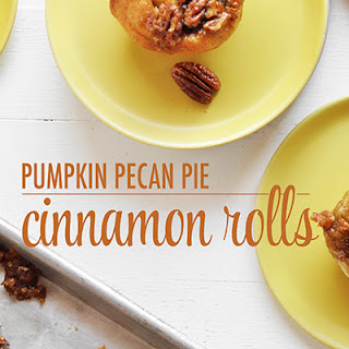 Pumpkin Pecan Pie Cinnamon Rolls