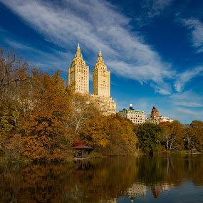 Central Park by VAM Photography - Buildings & Architecture Other Exteriors ( reflection, park, sunrise, nyc, architecture )