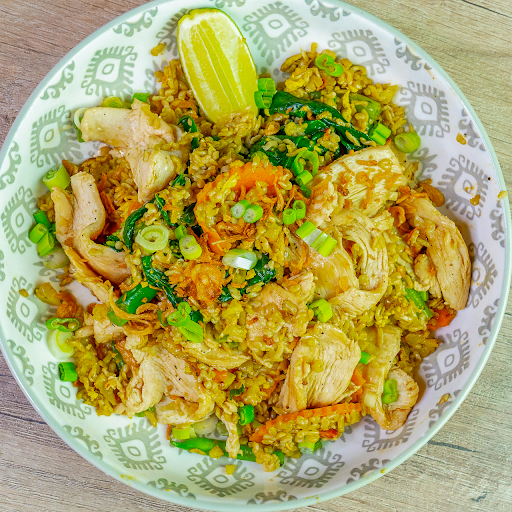 [Keto] Curry Fried Rice-Chicken