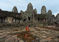 Fine del giorno ad Angkor Wat