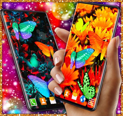 HD Neon Butterfly Live Wallpaper ud83eudd8b 4K Wallpapers screenshots 3