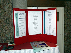 Photo: A display of ASHRAE Research donors and active projects in our region