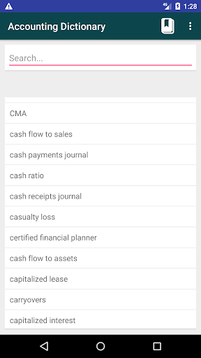 Screenshot 2 Accounting Dictionary