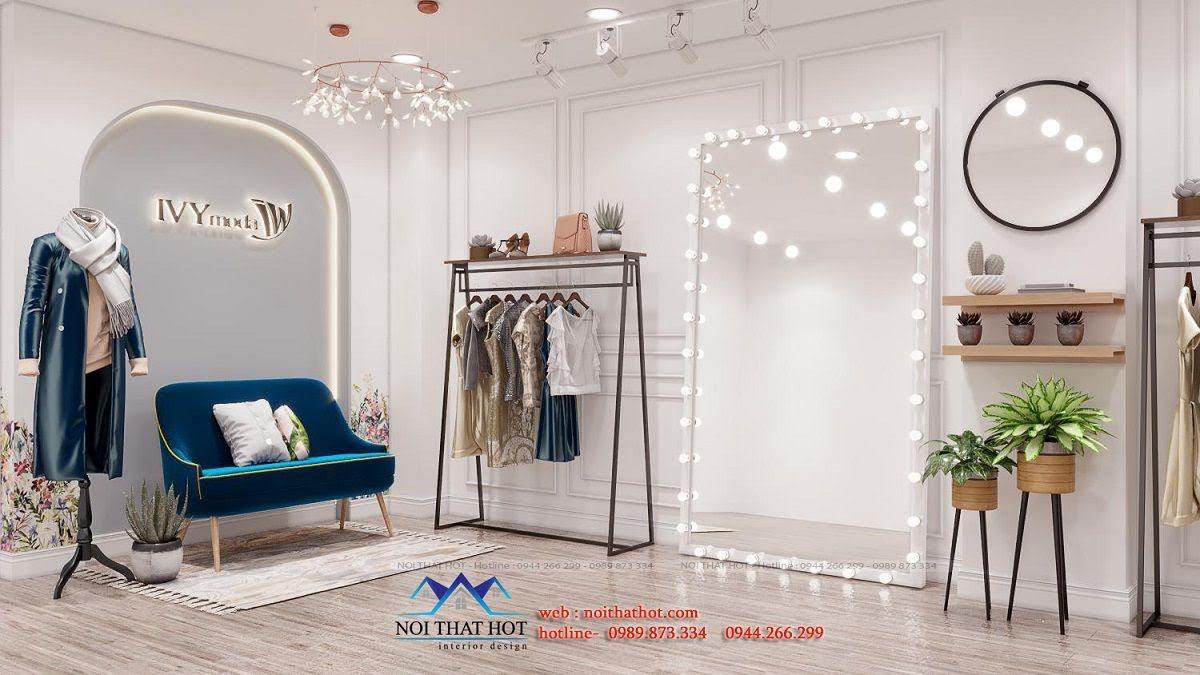 mẫu thiết kế shop quần áo nữ