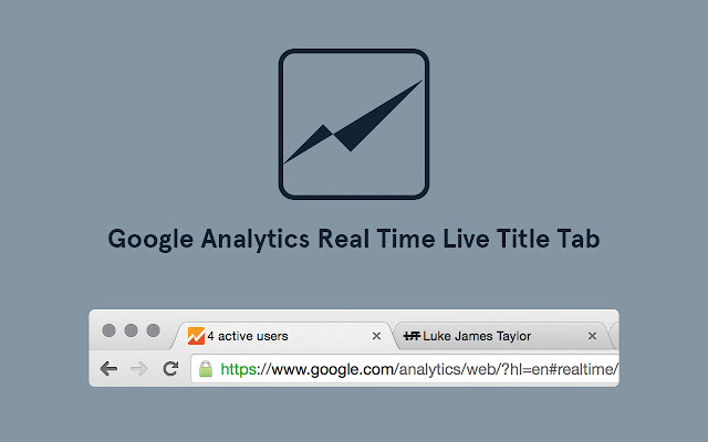 Google Analytics Real Time Live Tab Title