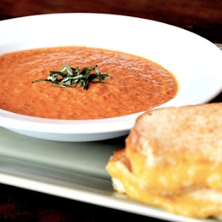Creamy Tomato Soup and Triple Grilled Cheese Sandwich