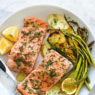 Mustard Salmon Sheet-Pan Dinner