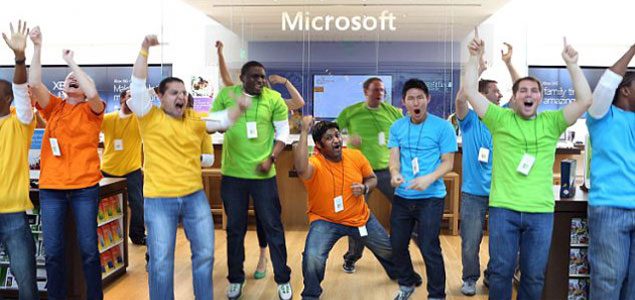 Image result for happy microsoft employees