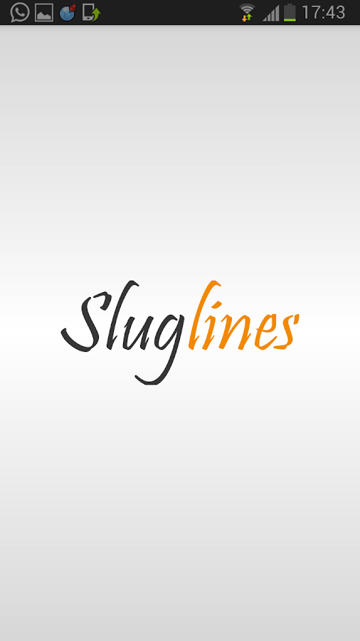 Sluglines- screenshot
