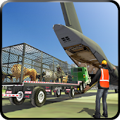 Zoo Animal Transport Truck 3D Airplane Transporter