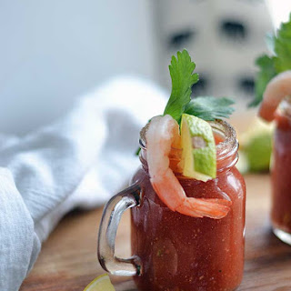 Homemade Bloody Mary.