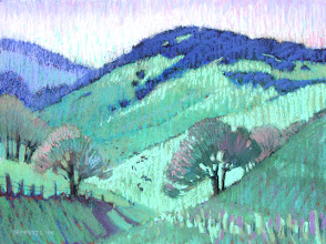 Photo: Spring at Last, pastel by Nancy Roberts, copyright 2014. Private collection.