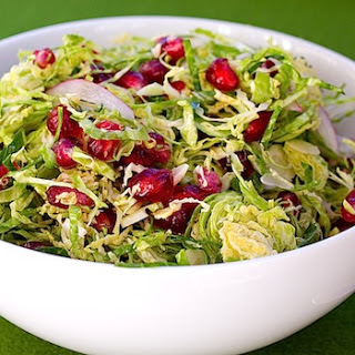 Brussels Sprout Salad with Pomegranate Seeds