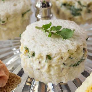 Coronation Chicken Salad Sandwiches.