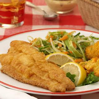 Cornmeal-Crusted Catfish Fillets.