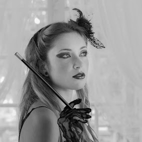 Nina by Leonor Machado - People Portraits of Women ( black and white, woman, 2015, saloon, portrait )