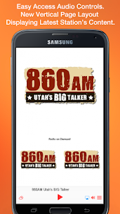 860AM Utah's BIG Talker- screenshot thumbnail