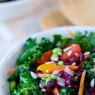 Superfood Kale Salad with Apple Cider Vinaigrette.