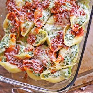 Healthy Stuffed Shells Recipe #PastaFits #MC #Sponsored.