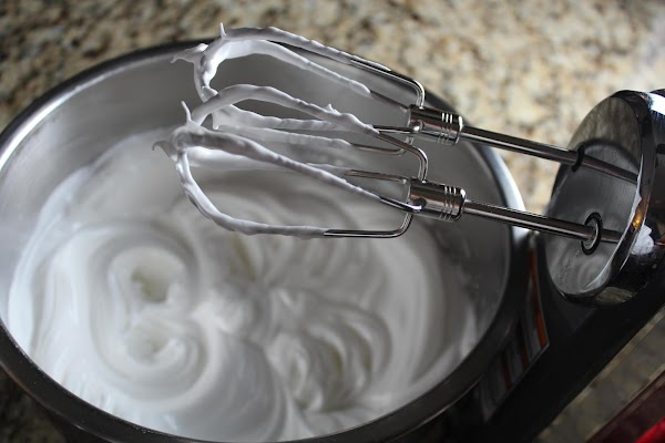 Using a metal bowl, add your egg whites (I use 4 for a better...