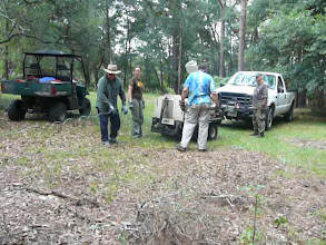Photo: With a good winch lots of things are possible. Getting it loaded with the truck winch near Silver Springs (Paradise Park).  Looking for the Paleoindian strata.