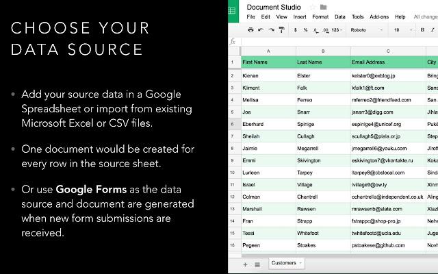 Document Studio - Google Sheets add-on