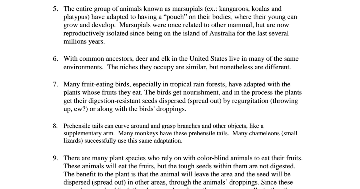 Pictures Speciation Worksheet Roostanama