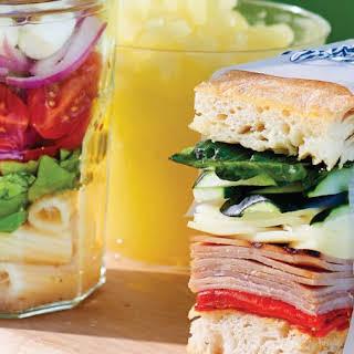 Italian Ham and Cheese Pressed Sandwich.