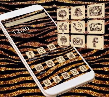 Zlatá Zebra a Leopard Téma Gold Zebra - náhled