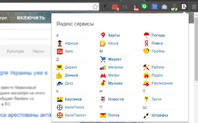 Яндекс сервисы