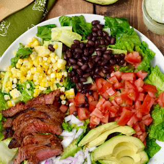 Southwestern Steak Salad with Jalapeño Ranch Dressing.