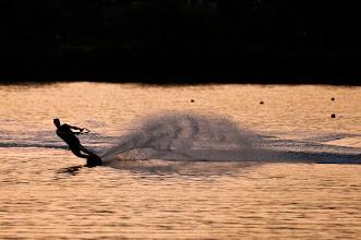 Photo: Water skiing at dusk