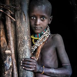 Child Hamar by Damjan Voglar - Babies & Children Child Portraits ( tribe travel africa portrait child face )