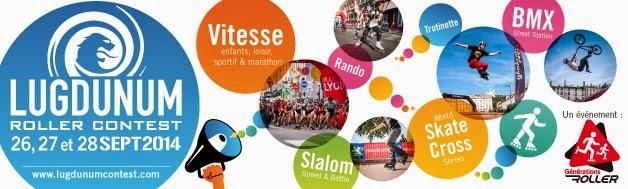 Photo: Le Lugdunum Roller Contest est un évènement multi-disciplines du roller et une classique de la Coupe de France Marathon dont l'épreuve se déroule dimanche après-midi à 15h30 autour de la place Bellecour à Lyon.