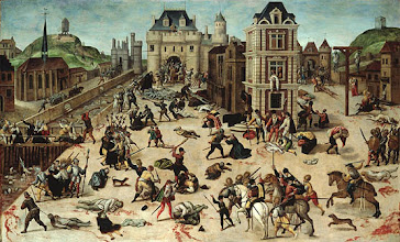 Photo: Francois DuboisHuile sur bois94 cm x 154 cmMusée cantonal des Beaux-Arts de LausanneThe famous painting of the Saint Bartholomew's Day massacre in Paris on 24 August 1572 depicts scenes from the most notorious incident in the French wars of religion and one of the most striking examples of the extremes of religious intolerance in the age. The Huguenot (French Calvinist) painter, François Dubois is reputed to have been an eyewitness to the massacre of thousands of his fellow Huguenots on the streets of Paris.fromVoices for Tolerance in an Age of PersecutionJune 9 - October 30, 2004Folger Shakespeare Library201 E. Capitol Street, SEWashington DC 20003(202) 544-7077www.folger.edu