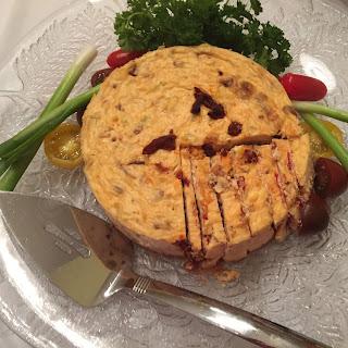 Havarti and Sundried Tomato Cheesecake
