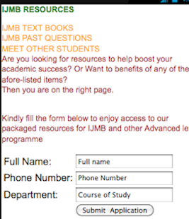 IJMB-Text book and past questions